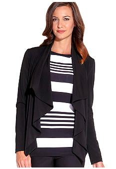 Karen Kane Wrinkle Resistant Drape Neck Travel Jacket