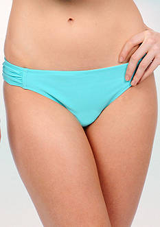 Jessica Simpson Solid Side Shirred Hipster