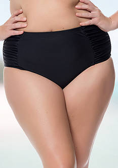 Jessica Simpson Plus Size Side Shirred Hi-Waist Bottom