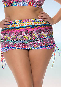 Jessica Simpson Plus Size Bali Breeze Shirred Skirted Bottom