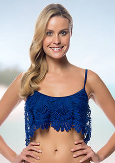 Jessica Simpson Over The Shoulder Flower Power Flounce Bralette