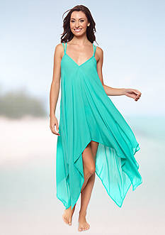 Jessica Simpson Crochet Back Chiffon Cover Up Dress