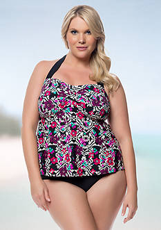 Jessica Simpson Plus Size It Girl Twist Bandeaukini