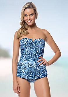 Jessica Simpson Color Pop Bandeau Swimdress