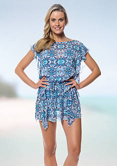 Jessica Simpson Flutter Chiffon Cover Up