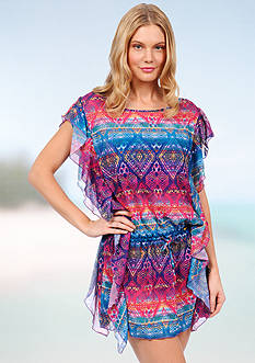 Jessica Simpson Tulum Ruffle Cover Up