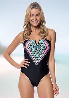 Jessica Simpson Venice Beach Braid Back One-Piece