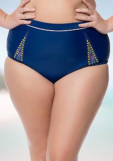 Jessica Simpson Plus Size Wild Thing Mesh Hi-Waist Bottom