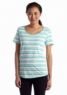 Marc New York Performance Striped Cut Out Tee