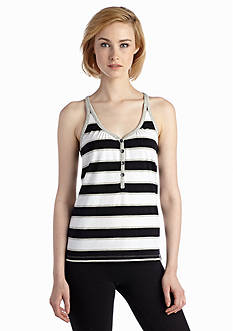 Marc New York Performance Striped Henley Tank
