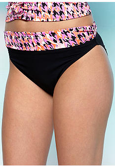 Profile Pepita Fold Over Swim Bottom