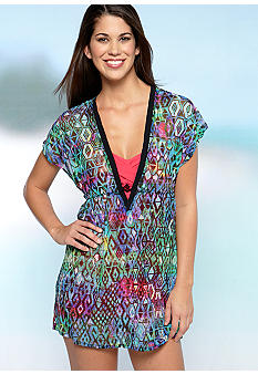 Profile Aztec Mesh Tunic Cover Up