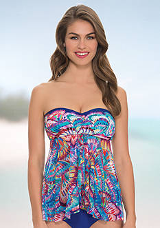 Profile by Gottex Madame Butterfly Flyaway Tankini