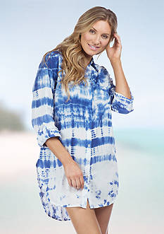La Blanca Tangier Shirtdress Cover Up