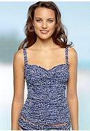 La Blanca Coiled Again Over the Shoulder Tankini