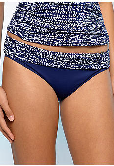 La Blanca Coiled Again Shirred Banded Hipster Swim Bottom