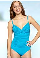 La Blanca Samba Solids Twist Underwire Mio One Piece