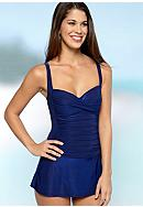 La Blanca Shirred and Now Skirted Mio Swim Dress