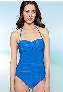 La Blanca Shirred Bandeau Mio One Piece