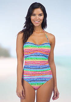 La Blanca Full Spectrum Bandeau One Piece