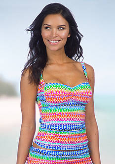 La Blanca Full Spectrum Over The Shoulder Tankini
