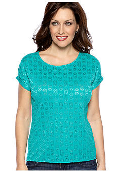 Madison Knit Back Lace Top