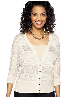Madison Lurex Woven Cardigan