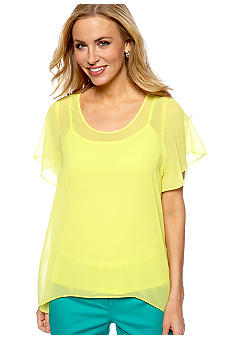Madison Cutout Back Woven Top