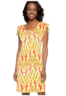 Madison Ikat Print Dress