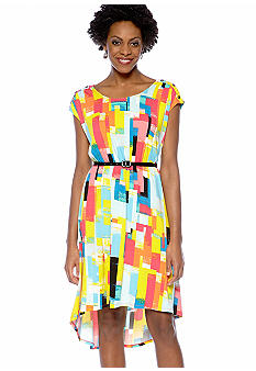 Madison Button Shoulder Hi-Lo Dress