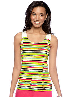 Madison Dual-Print Woven Back Top