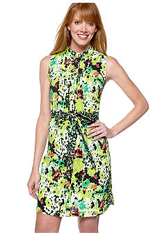 Madison Printed Shirtdress with Belt