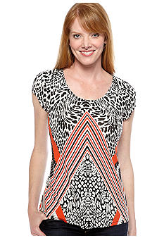 Madison Mixed Animal Print Top