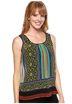 Madison Mix Print Sheer Tank