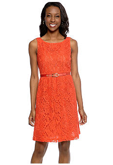 Madison Belted Lace Dress