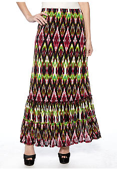 Madison Printed Maxi Skirt