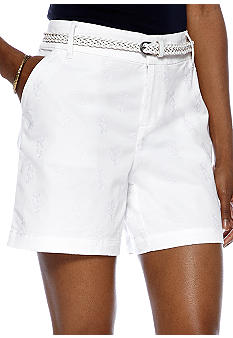 Madison Embroidered Belted Short