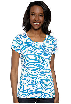 Madison Striped Core Ribbed Tee