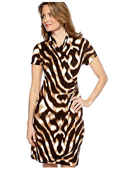 Madison Animal Print Wrap Dress
