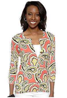 Madison Paisley Print Cardigan