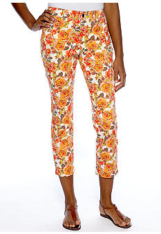 Madison Floral Print Ankle Pants