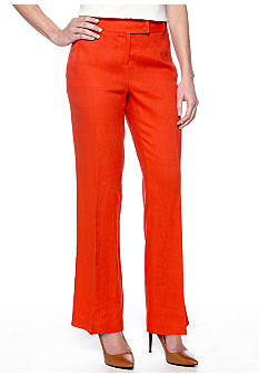 Madison Button Front Linen Pant