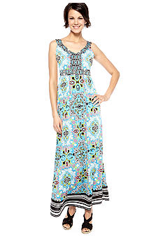 Madison Mix Print Maxi Dress