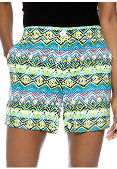 Madison Amazon Ikat Printed Linen Short