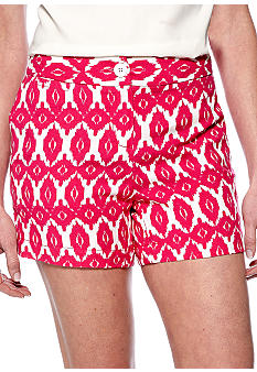 Madison Ikat Print Linen Short