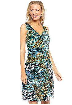 Madison Printed Tiered Mesh Dress