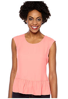 Madison Cap Sleeve Peplum Top