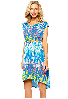 Button Shoulder Hi-Lo Dress