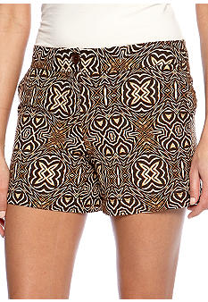Madison Kuba Cloth Printed Linen Short