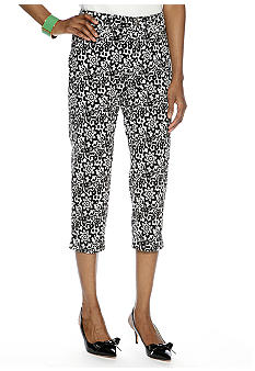 Madison Lace Print Twill Crop Pant